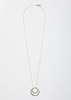 LOFT Mixed Metal Ring Pendant Necklace