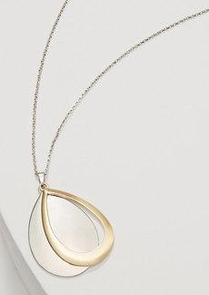LOFT Mixed Metallic Drop Pendant Necklace
