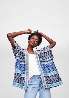 LOFT Mixed Mosaic Kimono Jacket