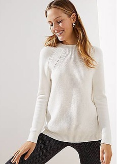 LOFT Mixed Ribbed Mock Neck Sweater