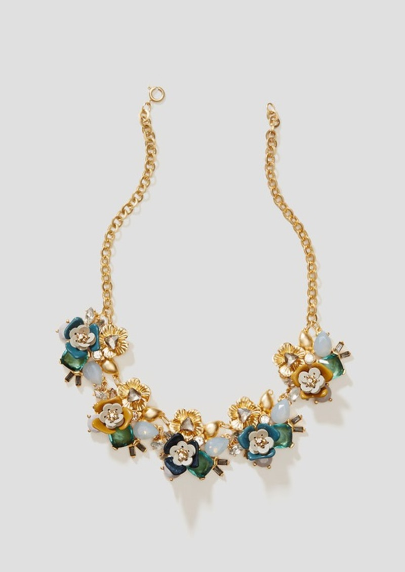 LOFT Mixed Stone Floral Necklace
