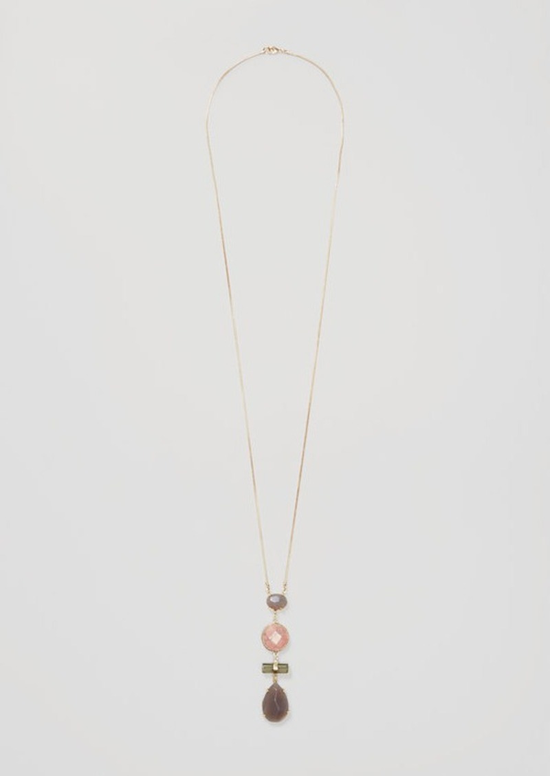 LOFT Mixed Stone Pendant Necklace