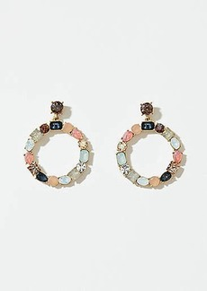 LOFT Mixed Stone Ring Drop Earrings
