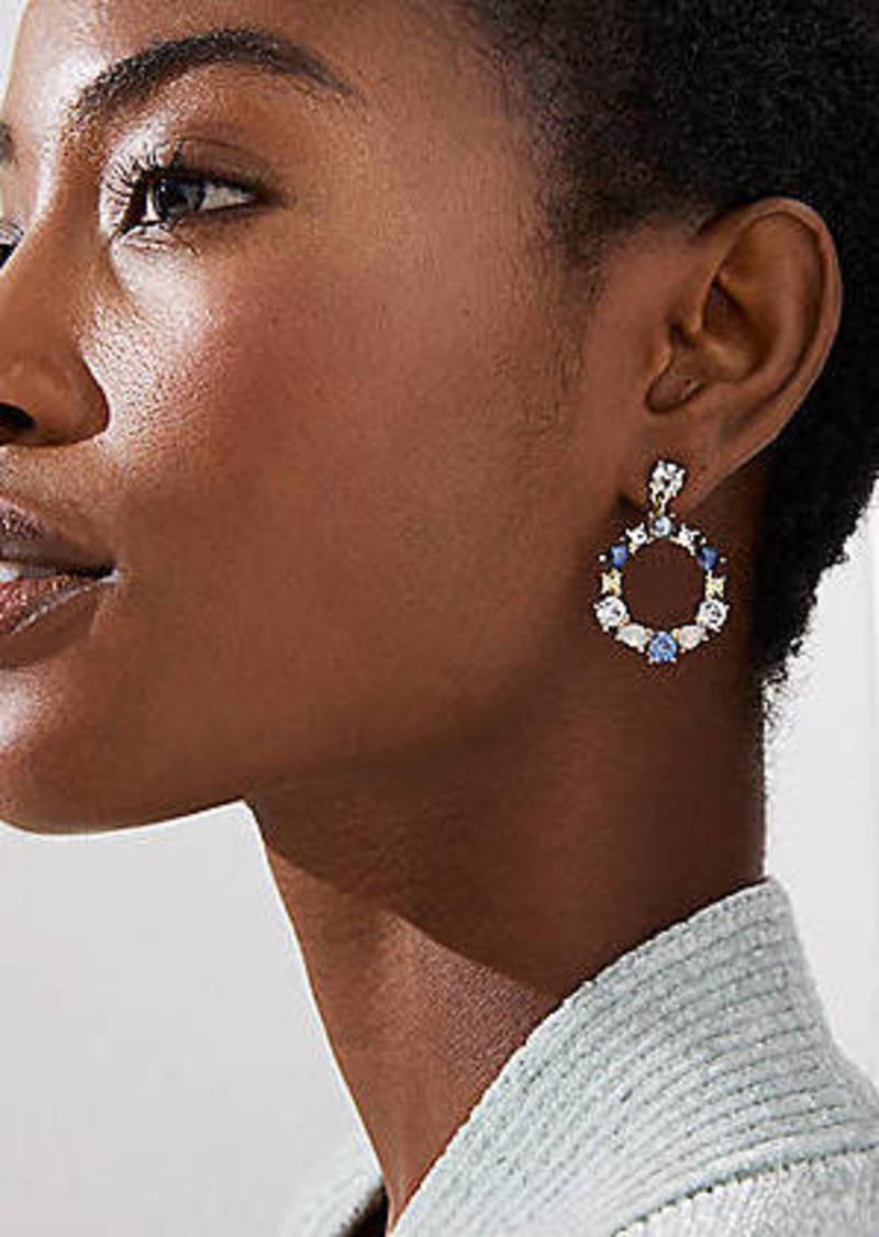 LOFT Mixed Stone Ring Drop Earrings