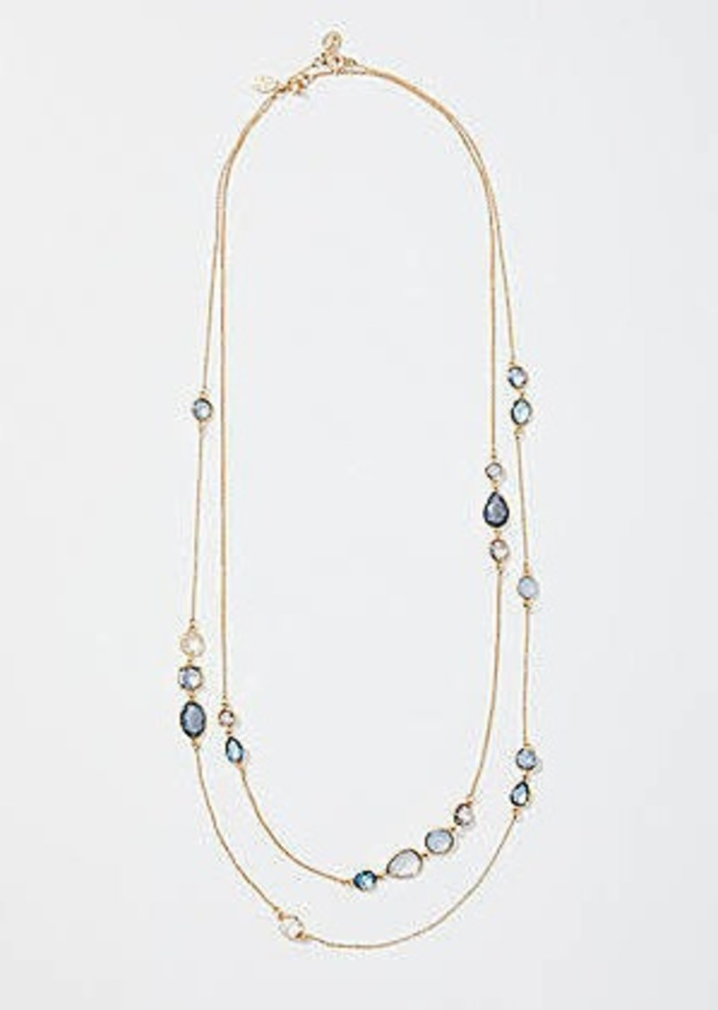 LOFT Mixed Stone Station Necklace Set