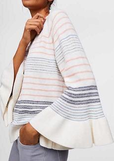 LOFT Mixed Stripe Bell Sleeve Sweater