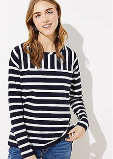 LOFT Mixed Stripe Dolman Tee