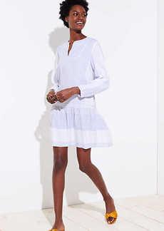 LOFT Mixed Stripe Flippy Dress