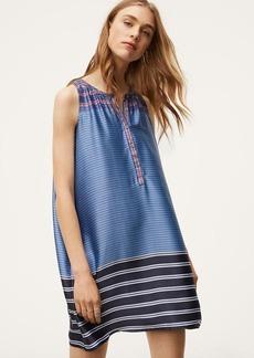 Mixed Stripe Henley Swing Dress