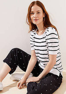 LOFT Mixed Stripe Sweater Tee