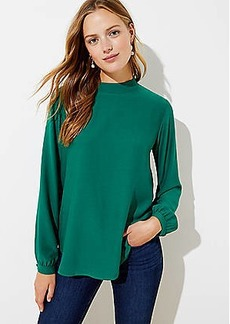 LOFT Mock Neck Blouse