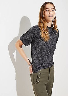 LOFT Mock Neck Bubble Sleeve Top
