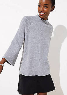 LOFT Mock Neck Side Button Sweater