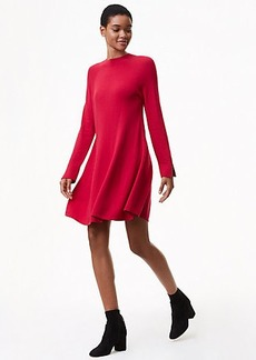 Mock Neck Swing Sweater Dress