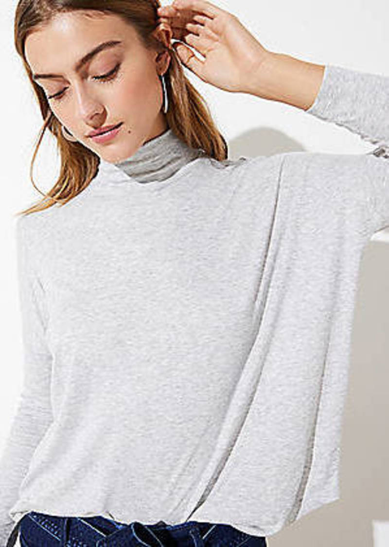 LOFT Mock Neck Top