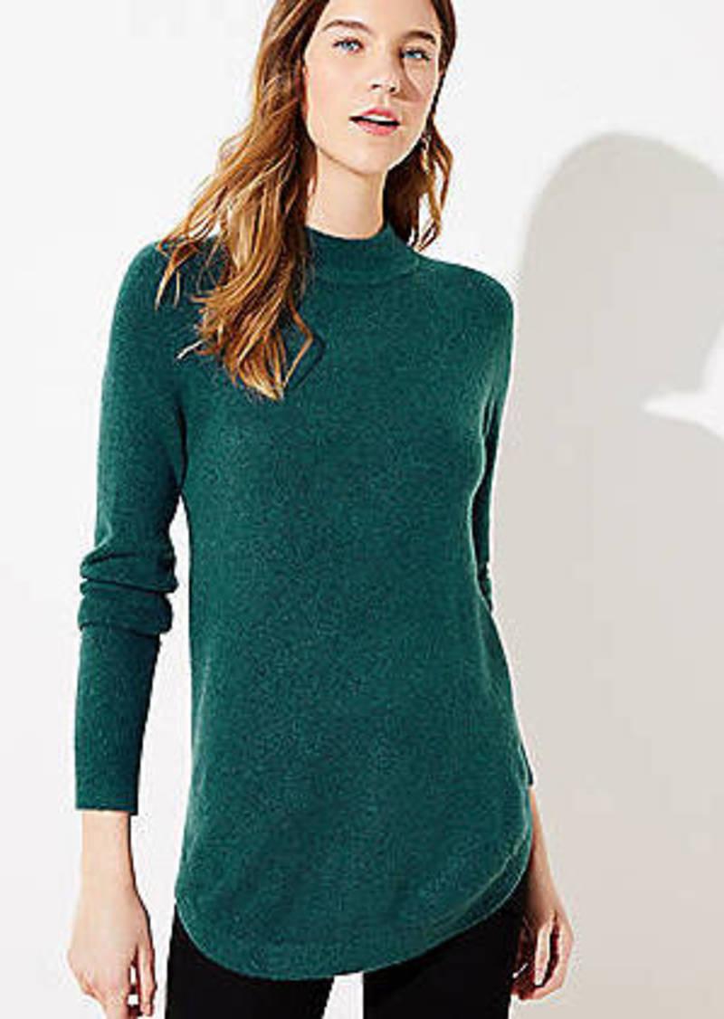 LOFT Mock Neck Tunic Sweater