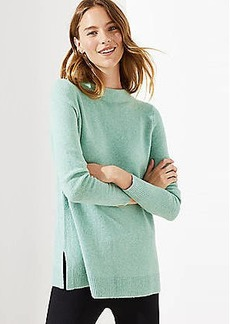 LOFT Mock Neck Tunic Sweater