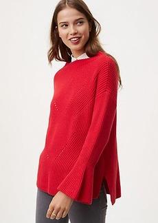LOFT Mockneck Bell Sleeve Sweater