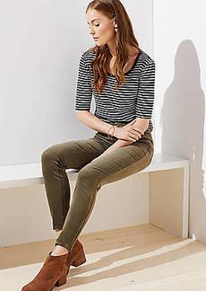 097fe9c9bb3 LOFT Modern Ankle Zip Corduroy Skinny Pants