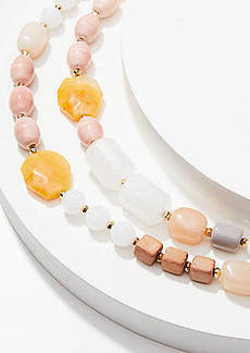 LOFT Modern Beaded Statement Necklace