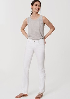 Modern Boot Cut Jeans in White