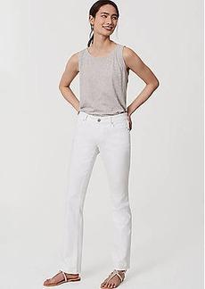 LOFT Modern Bootcut Jeans in White