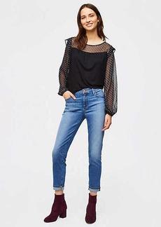 Modern Cuffed Skinny Jeans in Rich Mid Stonewash