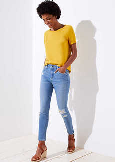 LOFT Modern Destructed Skinny Jeans in Light Wash