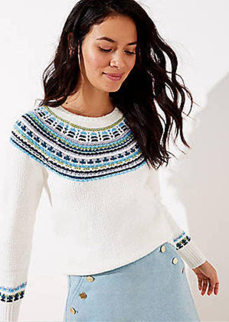 LOFT Modern Fairisle Sweater