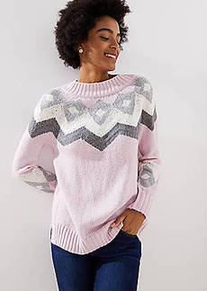 LOFT Modern Fairisle Sweater