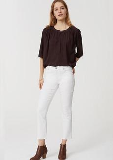 Modern Flare Crop Jeans in White