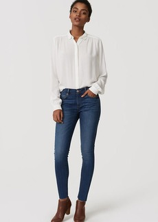 Modern Frayed Skinny Jeans in Classic Mid Vintage Wash