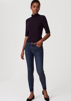 Modern Frayed Skinny Jeans in Pure Mid Indigo Wash