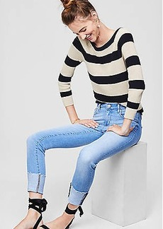 LOFT Modern Fresh Cut Cuffed Skinny Jeans in Vintage Light Indigo Wash