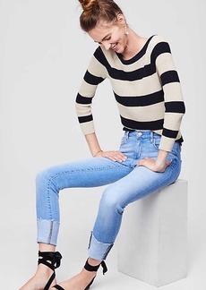 LOFT Modern Fresh Cut Cuffed Skinny Jeans in Vintage Light Indigo Wash