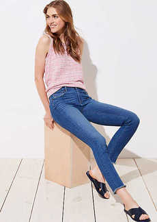LOFT Modern Fresh Cut Skinny Jeans in Mid Stonewash