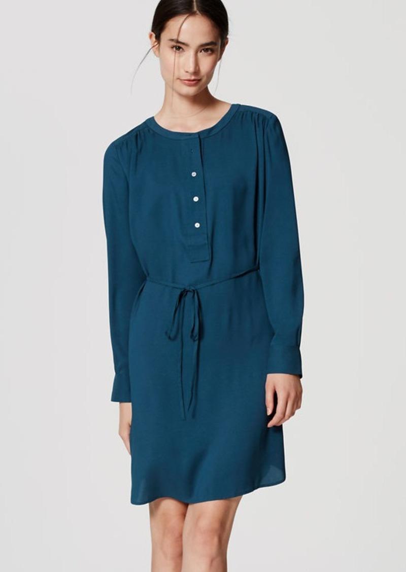 LOFT Modern Henley Shirtdress