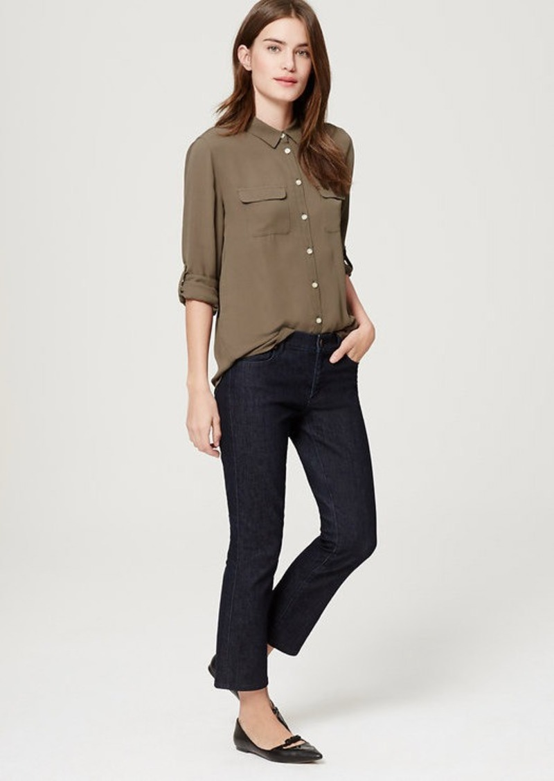 LOFT Modern Kick Crop Jeans in Dark Rinse Wash