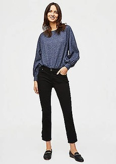 LOFT Modern Lace Up Skinny Crop Jeans in Black