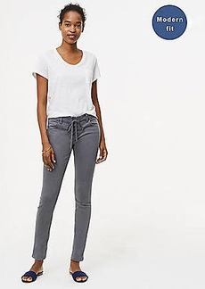 LOFT Modern Lace Up Skinny Jeans in Grey Asphalt