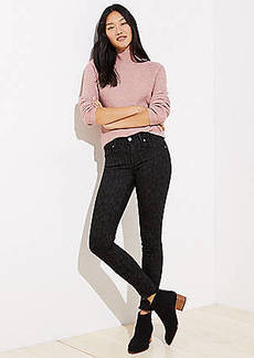 LOFT Modern Leopard Print Skinny Jeans