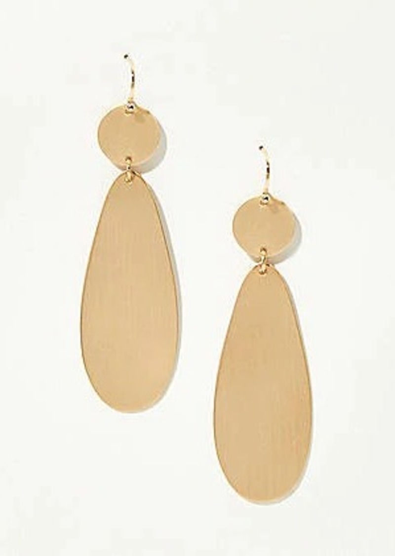 LOFT Modern Metallic Drop Earrings