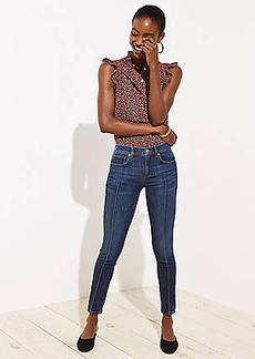 LOFT Modern Pintucked Skinny Jeans in Refined Dark Indigo Wash