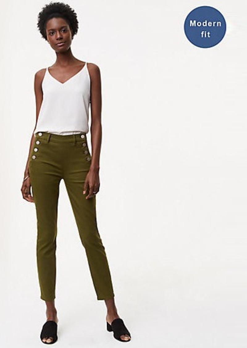 8abde7d13cb22 On Sale today! LOFT Modern Sailor Skinny Jeans in Rich Moss