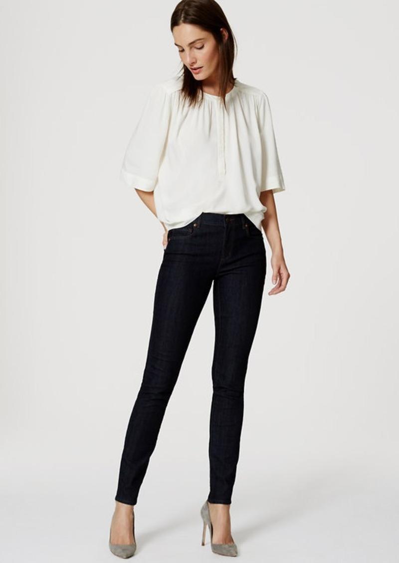 LOFT Modern Skinny Ankle Jeans in Dark Rinse Wash