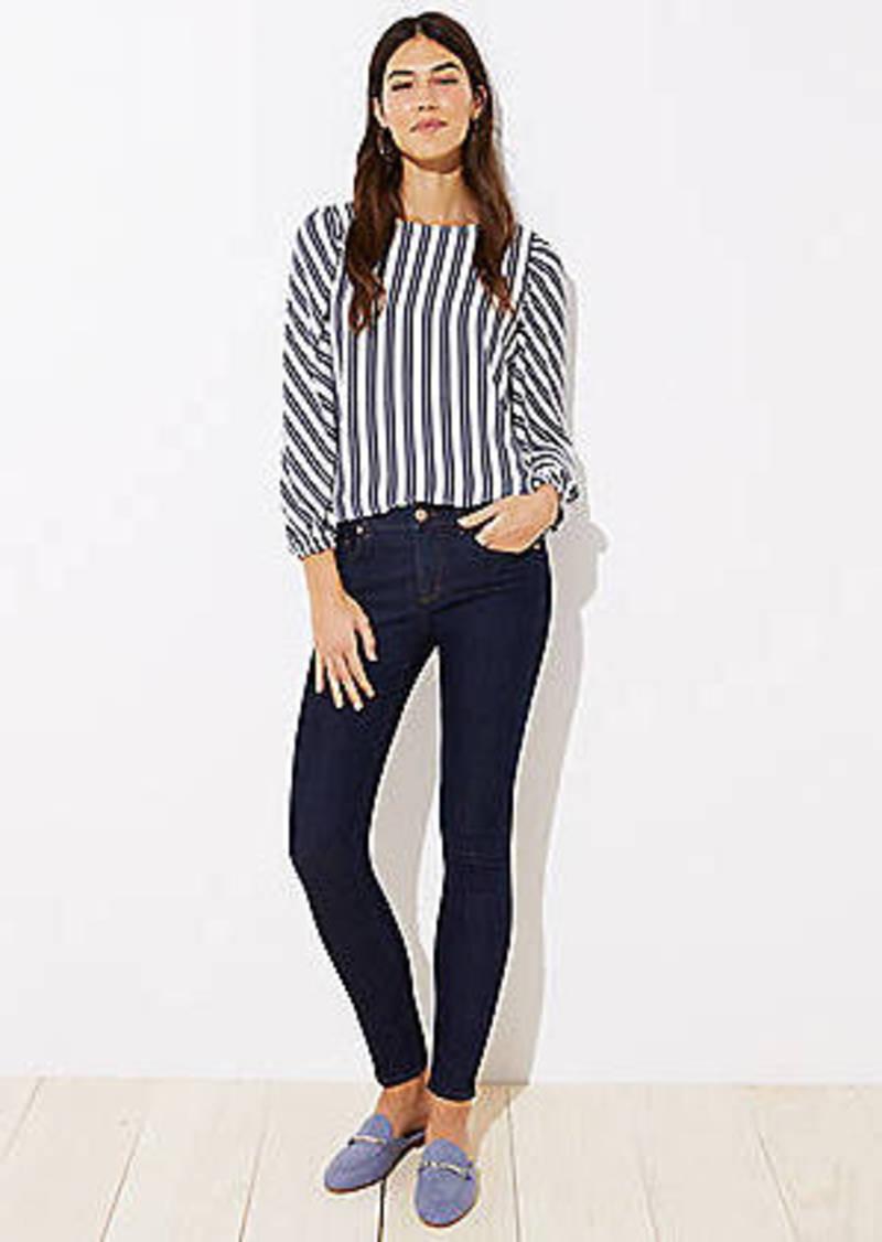 LOFT Skinny Jeans in Dark Rinse Wash