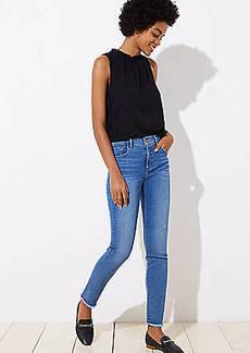 LOFT Modern Soft Skinny Jeans in Pure Mid Indigo Wash