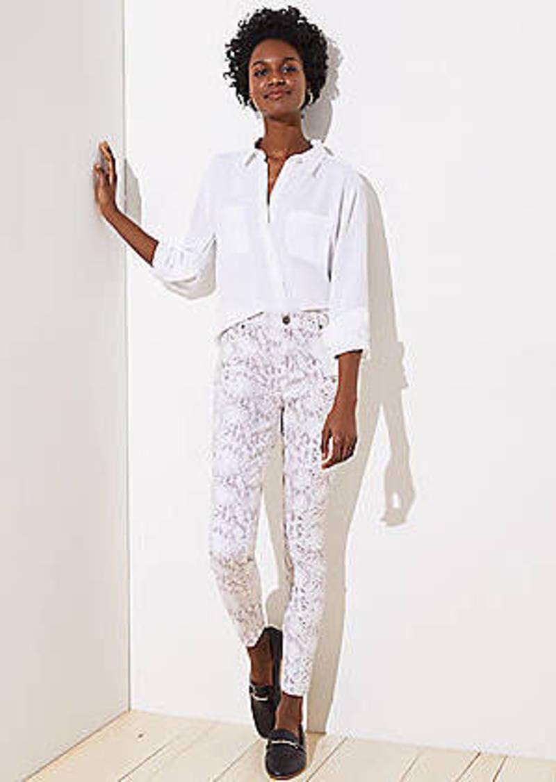 LOFT Skinny Jeans in Snake Print
