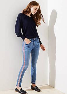LOFT Modern Skinny Jeans in Velvet Stripe
