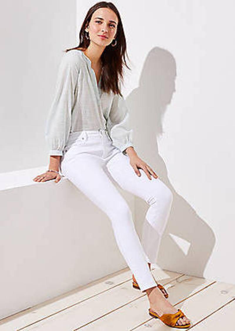 LOFT Slim Pocket Skinny Jeans in White